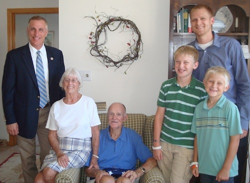 Rep. Tim Murphy, with Joanne and Ned Wells and three of the Wells' grandchildren.