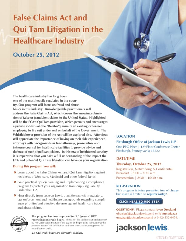 False Claims Act and Qui Tam Litigation in the Healthcare ...