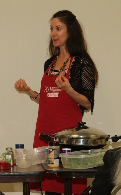 Author and holistic heath counselor Janet McKee talked to participants about healthy eating and presented a cooking demonstration (with tasty samples).
