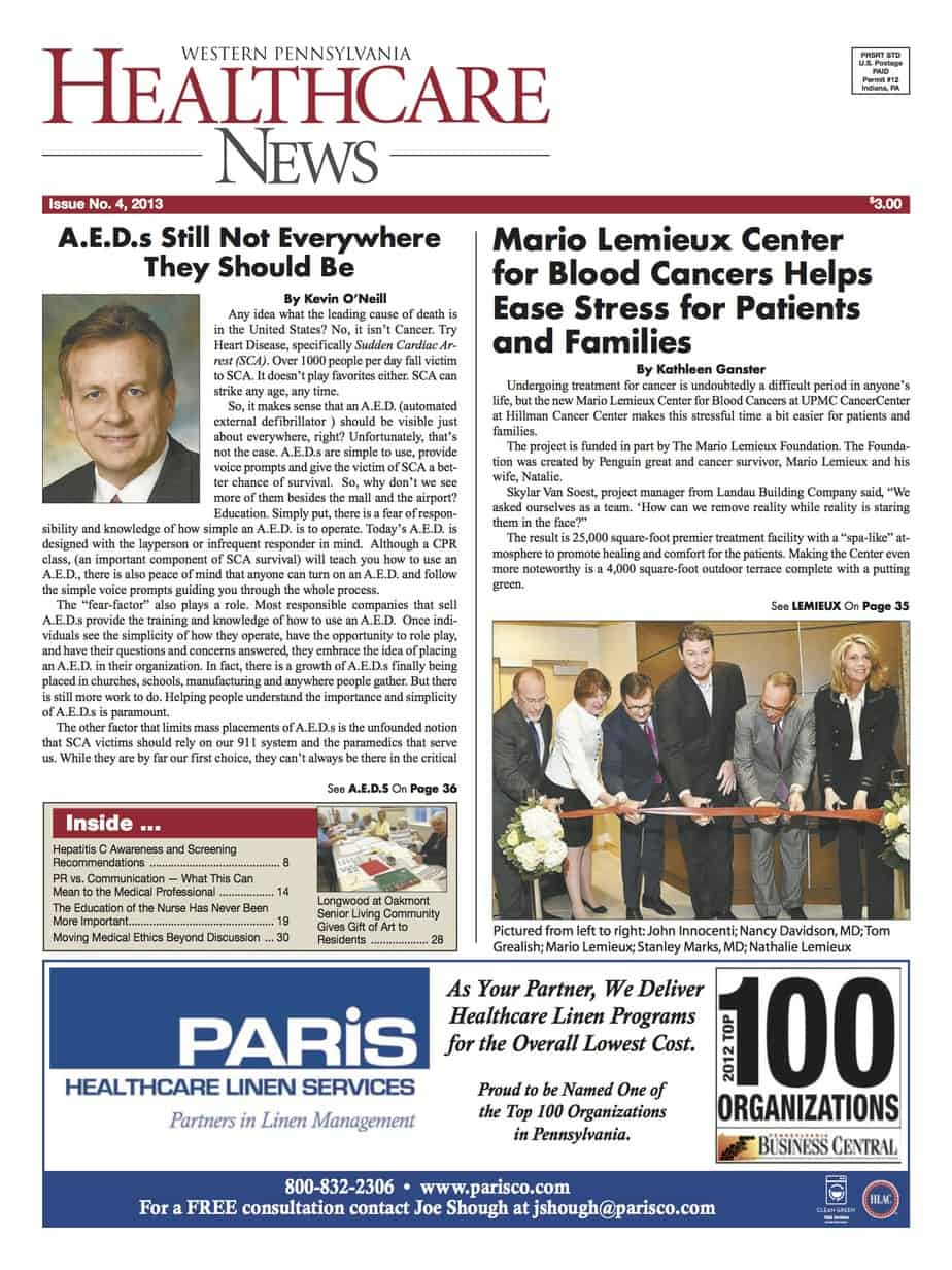 Latest issue now online western pennsylvania healthcare news for Articles cuisine