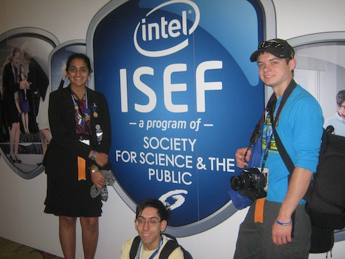 From left to right, Anishaa Sivakumar, Rishi Mirchandani, and Ryan Maurer.