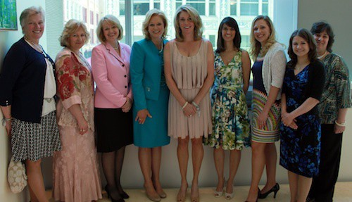 From L-R: Terry Trimeloni, Nurse Manager, RICN; April Behory, Director of Woman & Child Services; Claudia Rager, Vice President, Patient Care Services; Nancy Abrahams, CHF Board Member; Nathalie Lemieux; Susan Mann, President, Conemaugh Health Foundation; Amanda Artim, CHF Board Member, Stacy Roberts, Marketing & Social Media Coordinator; Tiffany Pugh, Nurse Manager, Obstetrics