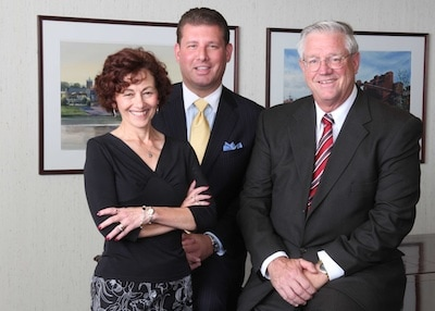 Reelected to Monongahela Valley Hospital's Board of Trustees and Mon-Vale Health Resources, Inc.'s Board of Directors are pictured left to right R. Carlyn Belczyk, Jeff M. Kotula and John D. Fry.