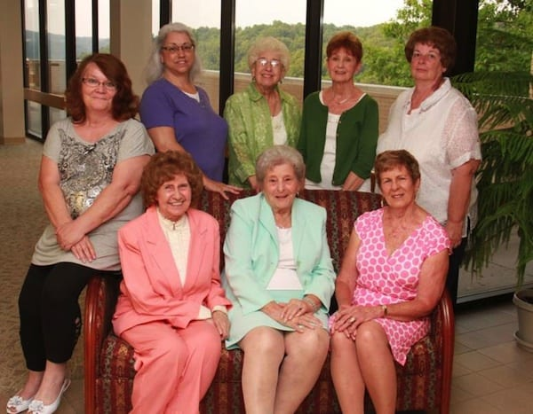 Back row (from left to right): Martha Durinsky, Kathleen Molesky, Angela Greco, Bonnie Matyas, and Barbara Bigi Front row (from left to right): Ann Rogus, Marge Bergstedt, and Mary Lou Lachman Not pictured: Marsha Barcelona, Joanne Pireaux, Schlain Rawlins and Patricia Hormell.