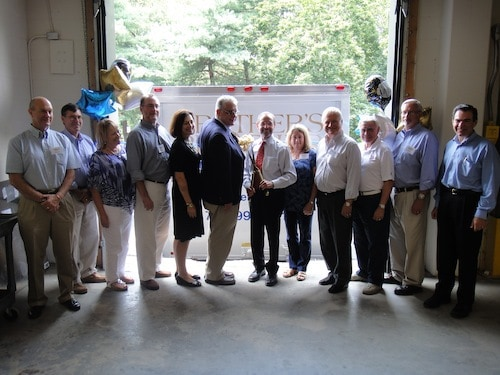 rother's Brother Foundation/Northern Virginia...Grand Opening Ribbon-Cutting Ceremony, July 27, 2013, from left to right: Drew Harvey (Trustee), Charles Stout (Advisory Trustee), Amy Hammer (Advisory Trustee), Austin Henry (Secretary), B.J. Leber (Chair), Luke Hingson (President), Dr. Barry Byer (Trustee), Cindy Kilgore (Advisory Trustee), John Tymitz (Trustee), Joseph Senko (Treasurer), Walter Fowler (Vice Chair), Lance Kann (Advisory Trustee)