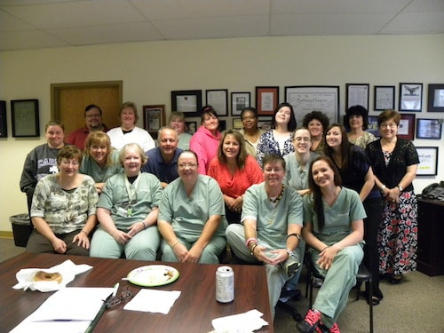 CEO/President Diane Mead and the staff of Bethany Hospice