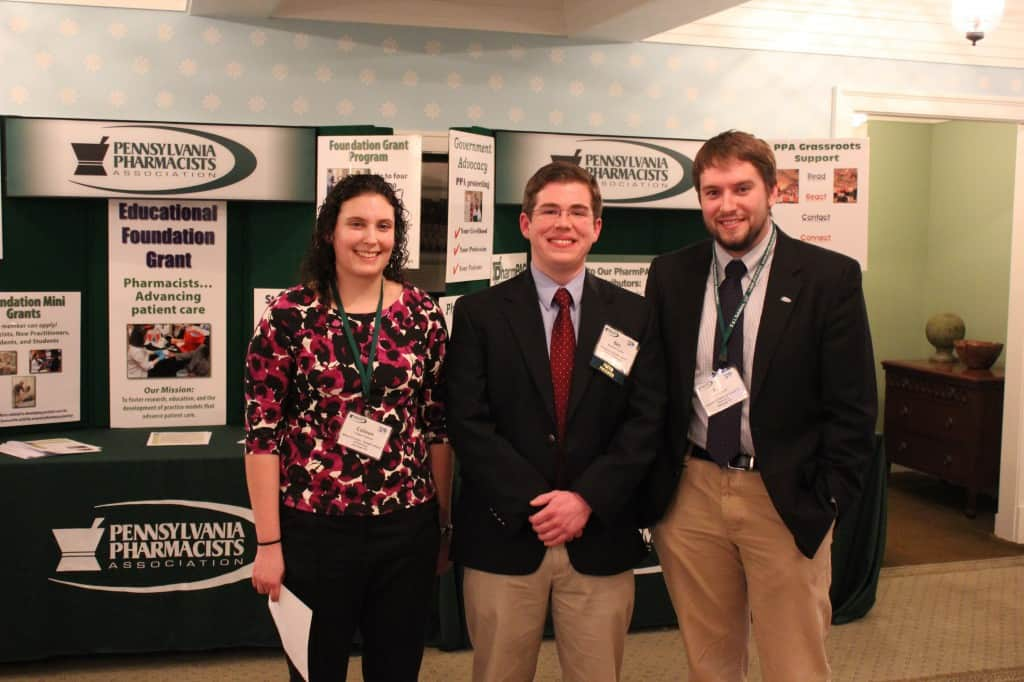 Pictured from left to right are: Colleen Herman, Benjamin Andrick and Kyle McGrath.
