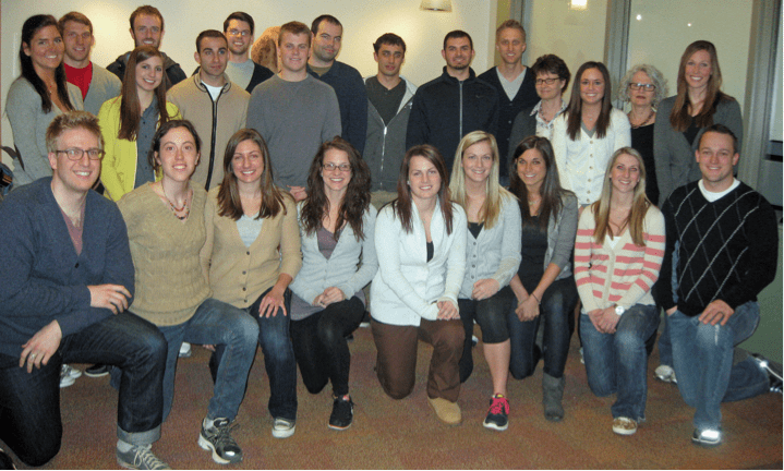 Pic of students in Fred Rogers' cardigan sweaters courtesy of Chatham University