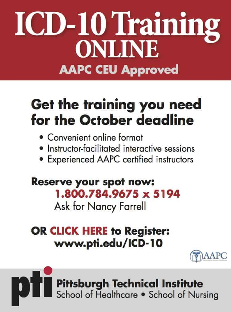 ICD-10, ICD-10 Training, ICD-10 Training Online, AAPC Certified Instructors, ICD-10 Training in Pittsburgh, AAPC CEU Approved
