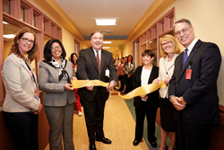 Representatives from The Children's Institute of Pittsburgh cut the ribbon today to open its new pediatric Behavioral Heath Unit.
