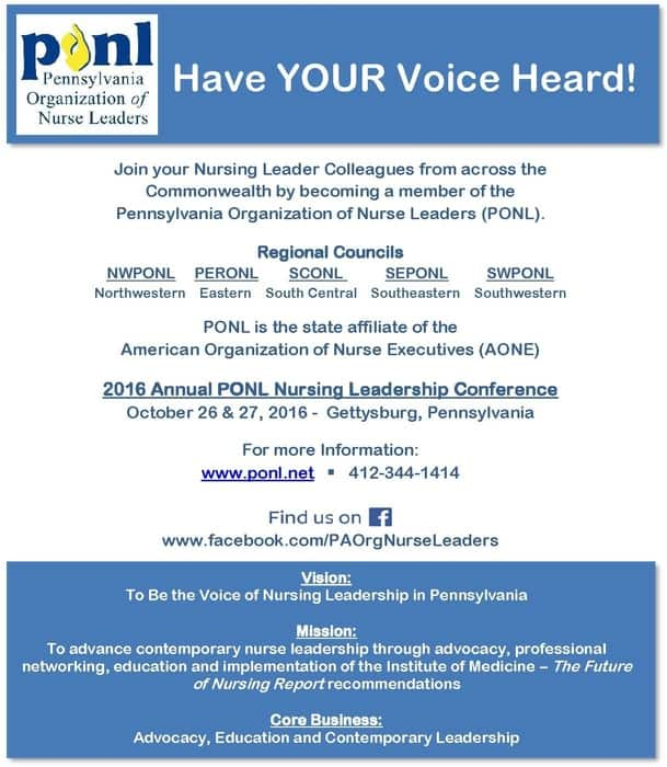 Pennsylvania Organization of Nurse Leaders