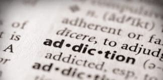 """Selective focus on the word """"addiction"""". Many more word photos in my portfolio..."""