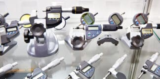 Digimatic and mechanical micrometers in store